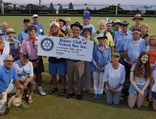 Nelson Bay Rotarians Bowl Bare Foot for Mental Health