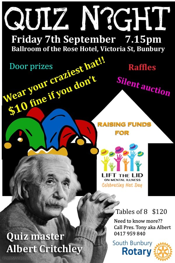 Rotary Club of South Bunbury Quiz Night – Australian Rotary